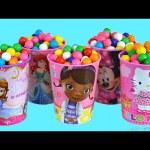 SURPRISES CUPS  Doc McStuffins  Minnie Mouse Disney Princess Egg surprises toys Bling bags Toys