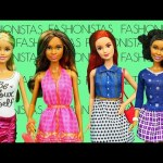 New BARBIE Fashionista Dolls FASHION SHOW with Frozen Elsa, Spiderman & Anna DisneyCarToys