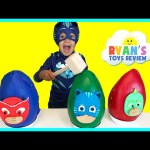 SMASHING EGGS PJ MASKS Play Doh Surprise Eggs for Kids Disney Toys Catboy Gekko Owlette Romeo