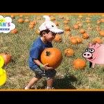Kids Family Fun Trip to the Farm Halloween Pumpkin Patch Corn Maze Children Activities Kids Toys