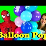 Giant Balloon Pop Challenge Giant Rope Tower Surprise Toys & Disney Princess Balloons DisneyCarToys