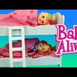 BABY ALIVE Bunk Beds From KidKraft Great for Twin Dolls or 2 Baby Alive Toddler Dolls DisneyCarToys