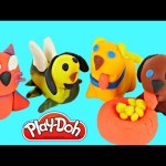 Play Doh Making Puppies How To Make Playdough Puppy Dog Cachorros Plastilina DCTC