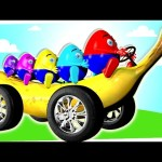 3D BANANA CAR Wheels On The Bus Compilation – Nursery Rhymes Collection for Kids Toddlers Baby