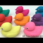 Play and Learn Colours with Glitter Play Doh Ducks with Zoo Animals Mix Molds Fun Creative for Kids