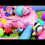 Peppa Pig's Surprise Birthday Party Daddy Pig Breaks The Bounce House & Cake Fail by DisneyCarToys