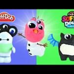 Play Doh Neon Monster Maker Softee Dough Cra-Z-Art Frozen Olaf Disney Big Hero 6 Buildable Playdoh