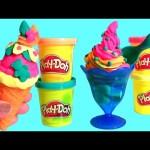 Play Doh Ice Cream Treats Waffle Cone Sundae & Frozen Gummy Bears | Play-Doh Gâteries Glacées