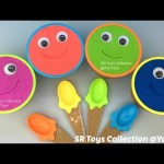 Kinetic Sand Ice Cream Smiley Face Surprise Cups with Anpanman Toys