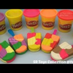 DIY How to Make Colours Play Doh Ice Cream with Molds Fun and Creative for Kids