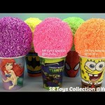 Clay Foam Surprise Toys In Cups Mickey Mouse Doc McStuffins Snoopy Barbie Justice League Lego Frozen