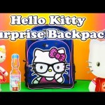 HELLO KITTY a Surprise Backpack Hello Kitty Surprise Egg candy +Toys Video