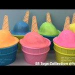 Clay Slime Ice Cream Surprise Toys Monster High Minis The Lion Guard Spiderman Mickey Mouse Snoopy