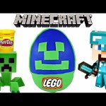 Colossal Play Doh Egg Surprise Minecraft The Farm | LEGO Building Huevos Sorpresa DCTC