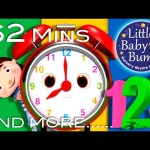 Telling Time Song | Plus Lots More Nursery Rhymes | From LittleBabyBum!