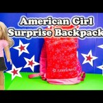 AMERICAN GIRL Surprise Backpack the American Girl Grace Rebecca Caroline Surprise Egg Video