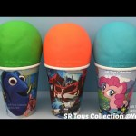 Play Doh Surprise Cups Minnie Mouse The Secret Life of Pets Winnie the Pooh Batman Littlest Pet Shop