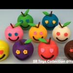 Play Doh Apples Smiley Face with Cookie Cutters Fun for Kids
