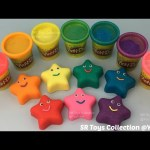 Play Doh Sparkle Smiley Stars with Messages Cookie Cutters