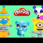 PLAY DOH Stamp & Roll LPS NEW Despicable Me Minions + Littlest Pet Shop Juguetes de Plastilina