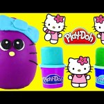 BIG Play Doh Surprise Eggs Hello Kitty Fashems Shopkins Looking HelloKitty Playdough Egg by DCTC