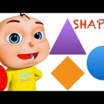 Five Little Babies Learning Shapes | Kids Songs | Baby Rhymes & Preschool Videos