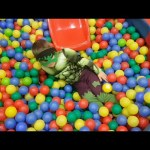 Little Hulk at indoor playground for kids. Funny video from KIDS TOYS CHANNEL.