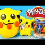 Giant Pikachu Pokemon Play Doh Surprise Egg DCTC Disney Cars Toy Club Playdough Videos