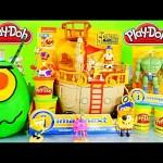 Giant Play Doh Plankton Surprise Egg Spongebob Squarepants Pirate Ship Toys DCTC Playdough Videos