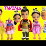 Disney Princess TWINS Belle Cinderella Mulan and Shang