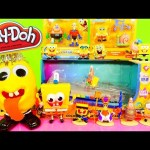 Play Doh Spongebob Squarepants Toys Super Unboxing Color Changing Car Playdough Egg Surprise DCTC