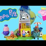 Peppa Pig Helter Skelter Slide Playground Play Doh Ice Cream with Peppapig and Friends by DCTC