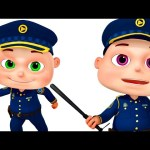 Five Little Babies Dressed As Police | Zool Babies Fun Songs | Nursery Rhymes Collection