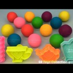 Play Doh Balls with Biscuit Cup Teapot Clock Molds Fun and Creative for Children