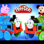 Thomas Flip & Switch Percy Toy Train Mickey Mouse and Peppa Pig Play Doh My First Thomas & Friends