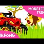 Monster Trucks in the Jungle | Monster Trucks | Pinkfong Songs for Children