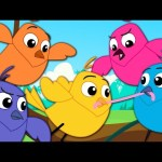 Five Little Birds | Nursery Rhymes | Kids Songs | Children Rhymes