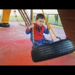 Outdoor playground for kids at the zoo. Funny video from KIDS TOYS CHANNEL
