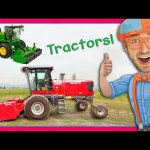 Tractor Videos for Children – Explore a Swather with Blippi