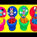 Toy Toilet Candy Surprise Mickey Mouse Clubhouse  Learn Colors for Children Minnie Mouse egg videos