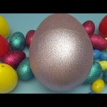 Learn Colours with Surprise Eggs!  Mixing Primary Colours! Mixed in a HUGE JUMBO Egg! Lesson 7