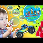 Shawn's Circle: ♫ POPPING BUBBLES ♪ Family Fun Games (#1) | DOH MUCH FUN Chase's Corner Baby Brother