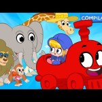 My Magic Animal Train – My Magic Pet Morphle episodes for kids. (Lion, Monkey, Giraffe and Elephant)