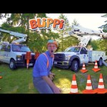 Blippi Goes Up in a Bucket Truck | Educational Machines for Kids
