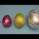 Learn Sizes with Surprise Eggs! Opening HUGE Colourful Chocolate Mystery Surprise Eggs! 17