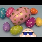 Learn to Spell with Rockin' Baby Big Mouth Surprise Eggs!  Spelling Farm Words!  Lesson 4