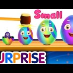 Small – Big – Bigger – Biggest – Kids Learn Sizes & Fruits with ChuChu TV Surprise Learning Eggs