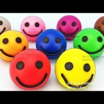 Learn Colors Play Doh Smiley Face Peppa Pig Ice Cream ELMO Princess Elephant Molds Surprise Toys Fun