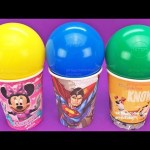 Super Surprise Cups and Balls Kinder Surprise Minions Shopkins LEGO Learn Colors Play Doh Fun Kids