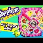Shopkins Pop 'n' Race Board Game Competition with DisneyCarToys Kids Toys